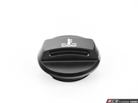 ES#3508319 - 022737ECS01-01 - Audi/VW Billet Expansion Tank Cap - Black Anodized - Lose the plastic! - ECS - Audi Volkswagen