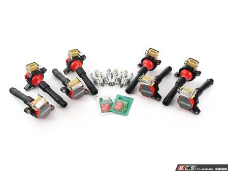 ES#4030912 - 12131703228KT2 - Performance Ignition Service Kit - Everything you need to service your ignition system including NGK Platinum+4 spark plugs and Bav Auto ignition coils - Assembled By ECS - BMW