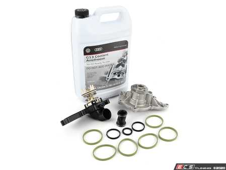 ES#4220535 - 06E121018KT - Water Pump Kit - Includes a new water pump and thermostat - Assembled By ECS - Audi