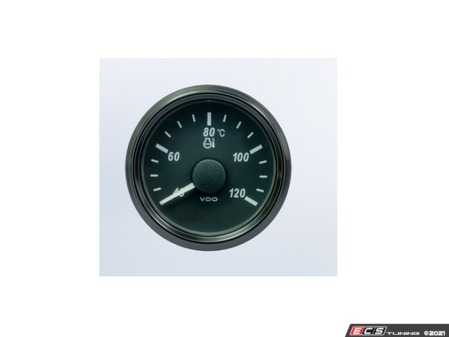 ES#4338713 - A2C3833330030 - SingleViu 52mm 120C Water Temperature Gauge. 291-22 ohm sender required. Retail pack with harness - Priced Each  - Analog dial to display critical information in a classic design with digital time - VDO - Audi BMW Volkswagen Mercedes Benz MINI Porsche