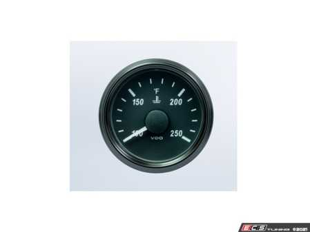 ES#4338714 - A2C3833340030 - SingleViu 52mm 250F Water Temperature Gauge. 450-30 ohm sender required. Retail pack with harness - Priced Each  - Analog dial to display critical information in a classic design with digital time - VDO - Audi BMW Volkswagen Mercedes Benz MINI Porsche