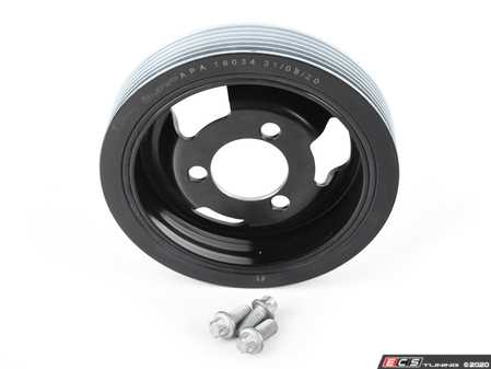 ES#4214835 - 11237638551KT - Crank Pulley With Dampener And Bolt Kit - Main crank pulley that is rotationally balanced and includes 3 mounting bolts - Assembled By ECS - MINI