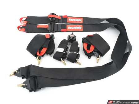ES#4220061 - 851001 - Camlock 6-Point Pull-Down Racing Harness - Black  - FIA approved 6-Point Camlock Design with Premium 3 Proprietary Blend Webbing (2 Inch on Shoulders for HANS) - Racequip - Audi BMW Volkswagen Mercedes Benz MINI Porsche