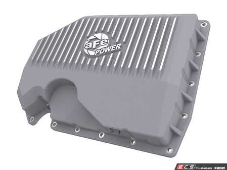 ES#4352713 - 46-71240A - Street Series Engine Oil Pan - Raw With Machined Fins - Constructed out of durable cast aluminum and adds approximately an additional quart of oil capacity - AFE - Audi Volkswagen