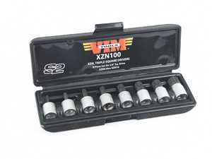 """ES#2950978 - VIMXZN100 - 8 Pc. 3/8"""" Drive Stubby Triple Square Socket Set  - Found everywhere on today's cars. This is a must have in some applications - VIM Tools - Audi BMW Volkswagen Mercedes Benz MINI Porsche"""