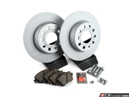 ES#4145014 - 5q0698451bKT - Rear Brake Service Kit (272x10) - Featuring Zimmermann rotors and Centric Posi-Quiet Ceramic pads - Assembled By ECS - Volkswagen
