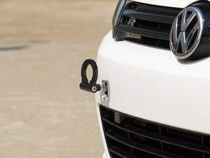 ES#2189832 - 1703749Z-B - Tow Hook Kit - Black Ring - Race inspired styling. - ECS - Audi Volkswagen
