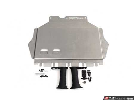 ES#3677816 - 018494ECS01-01KT -  Aluminum Street Shield Skid Plate - With Steel Reinforcement Kit - The best underbody protection package to keep your vitals safe - ECS - Volkswagen