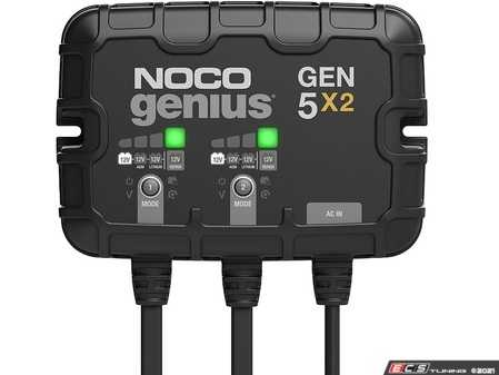 ES#4355163 - GEN5X2 - 2-Bank, 10-Amp On-Board Battery Charger (5-Amps Per Bank), Battery Maintainer, And Battery Desulfator With Temperature Compensation - Meet the all-new GEN5X2. Similar to our GENM2, only better. It's 27% smaller and delivers 43% more power. It's one of the best performing onboard marine battery chargers we have ever made. - NOCO - Audi BMW Volkswagen Mercedes Benz MINI Porsche