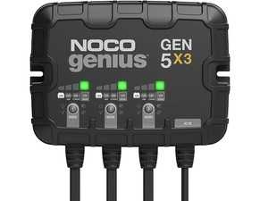 ES#4355164 - GEN5X3 - 3-Bank, 15-Amp On-Board Battery Charger (5-Amps Per Bank), Battery Maintainer, And Battery Desulfator With Temperature Compensation - A three-bank onboard battery charger rated at 15-amps (5-amps per bank) for 12-volt batteries, including marine, boat, starter, and deep-cycle batteries. - NOCO - Audi BMW Volkswagen Mercedes Benz MINI Porsche