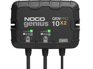 ES#4355166 - GENPRO10X2 - 2-Bank, 20-Amp On-Board Battery Charger (10-Amps Per Bank), Battery Maintainer, And Battery Desulfator With Temperature Compensation - A two-bank onboard battery charger rated at 20-amps (10-amps per bank) for 12-volt batteries, including marine, boat, starter, and deep-cycle batteries. - NOCO - Audi BMW Volkswagen Mercedes Benz MINI Porsche