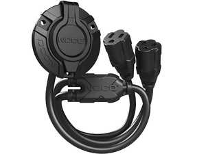 ES#4355271 - GCP2 - AC Port Plug With Dual 18 Inch Extension Cord - The GCP2 is an AC Port Plug with an integrated extension cable (18-inch) that offers optimal flexibility and ease of installation. - NOCO - Audi BMW Volkswagen Mercedes Benz MINI Porsche