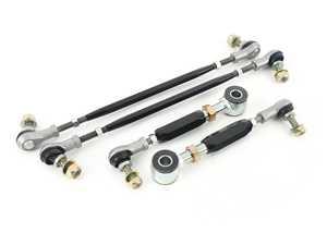 ES#4027449 - R32-REAR-SWAY-B - Rear Adjustable Swaybar End Linkage - Gloss Black  - Billet rear Adjustable Swaybar End Link set - Gruvenparts - Volkswagen
