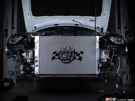 ES#4346249 - 7091 - High Performance Aluminum Radiator - Featuring an all-aluminum tank and core plus OE-style quick connects. Lower engine temperatures mean more power and longer life of engine components! - CSF - Audi