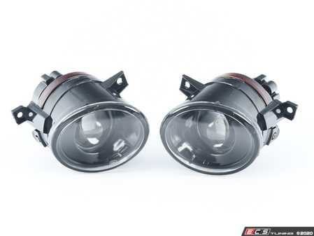 ES#4362045 - 1K0998018 - Projector Fog Light Assembly - Pair - Get increased light output with these plug-n-play projector fog lights - 9006 Bulbs Included - ZiZa - Volkswagen