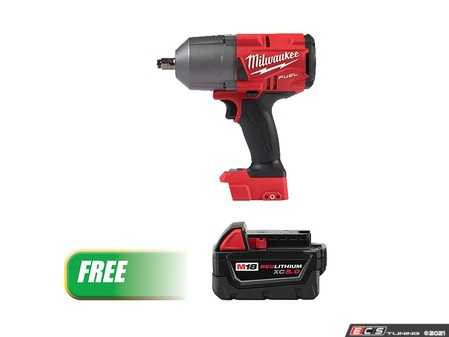 ES#4368548 - MWK-2767-20B5 - M18 FUEL High Torque  Impact Wrench With A Free M18 REDLITHIUM XC5.0 Battery - Provides maximum productivity by removing stubborn and high torque fasteners up to 2X faster than the competition - Milwaukee - Audi BMW Volkswagen Mercedes Benz MINI Porsche