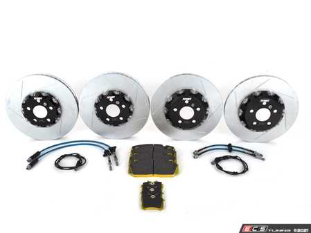 ES#4368551 - 026549TMS01A09KT - Turner Motorsport Front And Rear TrackSport Performance Brake Kit - F8x  - Upgrade your BMW's brakes for the ultimate track performance! Includes Turner Motorsport TrackSport full-floating slotted rotors, performance stainless steel brake lines, RSL29 performance brake pads and brake pad wear sensors. - Turner Motorsport - BMW