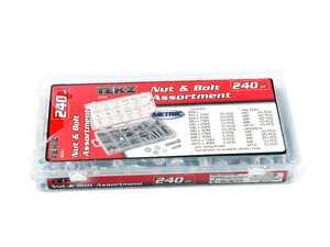 ES#4352840 - TIT45334 - Titan 240-Piece Metric Nut And Bolt Assortment - Zinc Oxide Finish - Titan - Audi BMW Volkswagen Mercedes Benz MINI Porsche