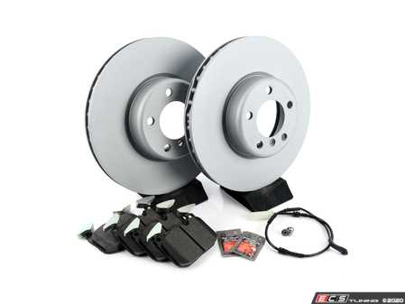 ES#4352530 - 34116792223zfrKT - Front Brake Service Kit - Featuring Zimmermann rotors and Brembo pads. (340x30mm Rotors) - Assembled By ECS - BMW