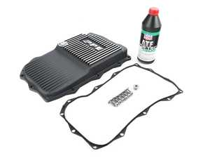 ES#4365321 - 24118612901P2KT - Automatic Transmission Service Kit w/ PPE Aluminum Pan - Brushed Finish - Includes PPE's Heavy Duty ZF 8HP Transmission oil pan and all the necessary components for a complete transmission service, featuring Liqui Moly fluid! - Assembled By ECS - BMW