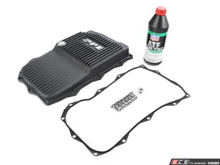 ES#4365322 - 24118612901P3KT - Automatic Transmission Service Kit w/ PPE Aluminum Pan - Black Finish - Includes PPE's Heavy Duty ZF 8HP Transmission oil pan and all the necessary components for a complete transmission service, featuring Liqui Moly fluid! - Assembled By ECS - BMW