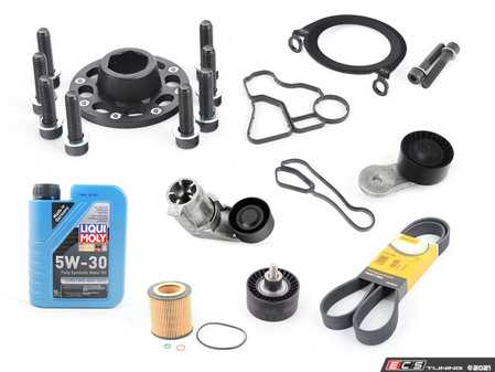 """ES#4365387 - ECSs55bpKT - S55 """"Bulletproof"""" Crank Kit - .or at least as """"Bulletproof"""" as your F8X S55 will ever be! Includes a crank bolt capture kit, crank seal plate, oil filter housing gaskets, and all of the components required to perform this upgrade service. - Assembled By ECS - BMW"""