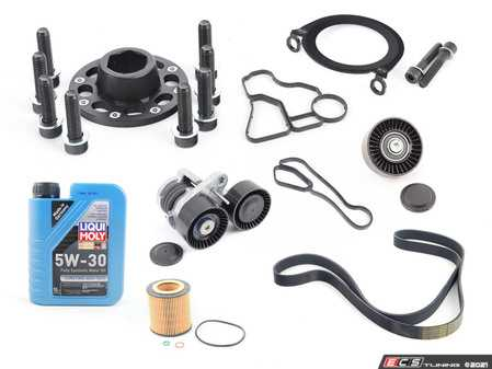 """ES#4365385 - ECSe90n55bpKT - N55 """"Bulletproof"""" Crank Kit - .or at least as """"Bulletproof"""" as your E9X N55 will ever be! Includes a crank bolt capture kit, crank seal plate, oil filter housing gaskets, and all of the components required to perform this upgrade service. - Assembled By ECS - BMW"""