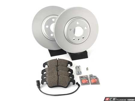 ES#4346341 - 8K0615301AKT4 -  Front Brake Service Kit - Featuring Meyle rotors and Textar pads - Assembled By ECS - Audi
