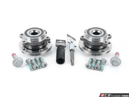 ES#4349931 - 5k0498621kt5KT1 - Wheel Bearing & Hub Assembly Kit - With Service Tools  - Includes both wheel bearing/hub assemblies with hardware and necessary tools. - Assembled By ECS - Audi Volkswagen
