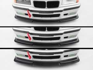 ES#4375331 - 008318la10KT - Turner Motorsport Modular Front Lip, Splitter & Aluminum Skid Plate Kit - Aggressive front lip with adjustable, functional splitter and aluminum skid plate - Turner Motorsport - BMW