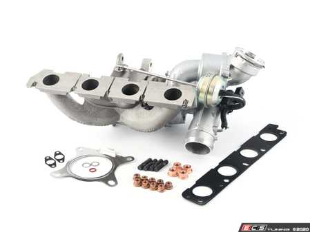 ES#4351875 - 06J145713KKT -  K03 Turbocharger with Install Kit - Complete turbo assembly with hardware and gaskets needed for install - Assembled By ECS - Audi Volkswagen
