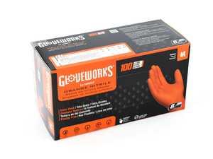 ES#3674439 - GW0N44100 - Gloveworks Heavy Duty Orange Nitrile Gloves  - Medium - Ammex - Audi BMW Volkswagen Mercedes Benz MINI Porsche