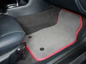 ES#2200721 - 8D0898013 - Floor Mat Set - Grey / Red Piping - Round Retainers - High Quality Mats To Protect Your Interior - Schwaben -