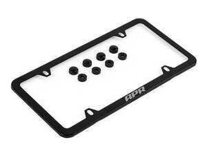 ES#4375717 - A1000013 - APR License Plate Frame - Slim - Features a black finish and includes screw hiders. The perfect addition for any APR tuned vehicle! - APR - Audi Volkswagen Porsche