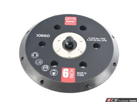 """ES#4164040 - 10660 - 6"""" Vented Orbital Backing Plate (G9) - This vented backing plate is a performance upgrade to your Random Orbital. It delivers enhanced cooling and more flexibility. - Griot's - Audi BMW Volkswagen Mercedes Benz MINI Porsche"""