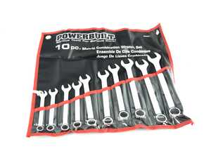 ES#3240684 - 940467 - 10 Piece Metric Combination Wrench Set - This 10 piece set offers a useful selection of Powerbuilt metric combination wrenches constructed from tough heat-treated steel for strength and durability. - Powerbuilt - Audi BMW Volkswagen Mercedes Benz MINI Porsche