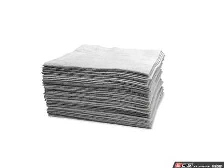 ES#4376076 - 14331 - Microfiber Edgeless Utility Towels - Set Of 50 - These absorbent edgeless microfiber towels will tackle even the dirtiest clean-up jobs and are a great value at under 80 cents per - Griot's - Audi BMW Volkswagen Mercedes Benz MINI Porsche
