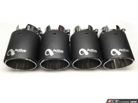 ES#4381953 - 11-043C - Slip On Exhaust Tips - 90mm - Carbon Fiber - A perfect length, stylish alternative to the OE exhaust tips! - Active Autowerke - BMW