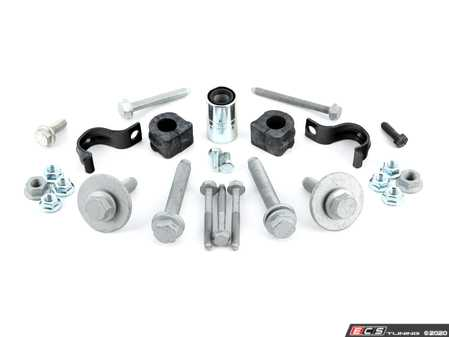 ES#2784766 - 8N0411305DINTKT - Front Sway Bar Installation Kit - All the necessary hardware and bushings for installing your OE front sway bar - Assembled By ECS - Volkswagen