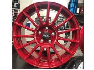 ES#4390838 - OZLM-23RDET43KT - OZ Racing Wheels X Duell AG LM-23 Wheel 5x112 ET43 18x8 RED - Set Of 4 - High performance wheels to go with your Duell Ag kits or on its own. Without Evoluzione Center Lock Cover - Duell Ag - MINI