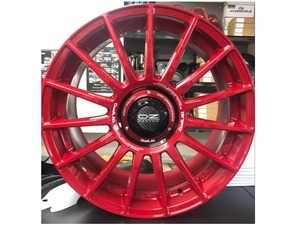 ES#4390834 - OZLM-23RDET43LKT - OZ Racing Wheels X Duell AG LM-23 Wheel 5x112 ET43 18x8 RED - Set Of 4 - High performance wheels to go with your Duell Ag kits or on its own. With Evoluzione Center Lock Cover - Duell Ag - MINI