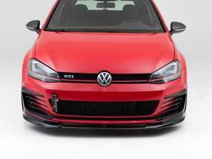 ES#4146753 - 005343LA01-01KT - MK7 GTI Front Lip Spoiler - Gloss Black (Version 1) - In-house engineered to upgrade your exterior styling - ECS - Volkswagen