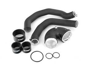 ES#4389711 - 005809LA11 - Charge Pipes - Hot Side & Cold Side - Complete kit to upgrade the brittle factory plastic to new Turner aluminum with silicone hoses. - Turner Motorsport - BMW