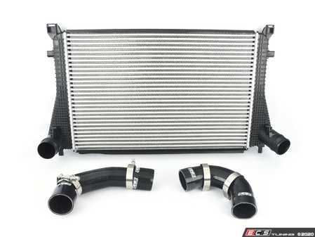ES#3969895 - 5q0145803skt1 - MK7 Golf R / 8V S3 Intercooler Upgrade Kit - ECS Black Silicone Boost Hoses - Higher flowing intercooler and silicone boost hoses, a complete bolt on kit - Assembled By ECS - Audi Volkswagen