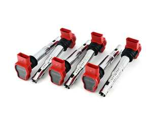 ES#4376586 - MS100208-6KT - APR Upgraded Ignition Coil - Red - Set of Six - Designed to be a direct plug-and-play upgrade to factory coils, providing greater energy output, ensuring a stronger and more consistent spark! - APR - Audi