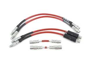 ES#4414512 - 018877LAKT - Exact-Fit Stainless Steel Brake Lines - Complete Kit - Manufactured by ECS Tuning to replicate your stock lines. (DOT-compliant) - ECS - BMW