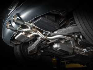 """ES#4414027 - 014107LA -  MK5 R32 Valved Catback Exhaust System - In-house engineered for the R32 enthusiast! Features T304 SS Tig-welded 2.5"""" tubing and a valved muffler for audible obedience or wide open for glorious Wookie growls! - ECS - Volkswagen"""