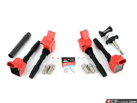 ES#4349873 - 06h905110lkt3KT4 -  RS Ignition Service Kit - With Service Tools  - Add 8V RS3/B9 S4 spark with these red top coil packs and RS7 spark plugs for the ultimate ignition service kit for your 1.8T/2.0T Gen3 engine! - Assembled By ECS - Audi Volkswagen