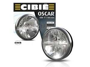 """ES#4415665 - 45305 - CIBIE OSCAR LED 7 """" Full Black And Chrome Auxiliary Universal Rally Lights - Pair  45305  045305 - Throughout its history, Cibi products have been the first choice for numerous motorsport teams and disciplines, notably the Monte-Carlo rally and Le Mans series - CIBIE - Audi BMW Volkswagen Mercedes Benz MINI Porsche"""
