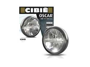 """ES#4415672 - 45310 - CIBIE OSCAR LED 9 """"  Chrome Auxiliary Universal Rally Lights - Pair 45310 045310 - Throughout its history, Cibi products have been the first choice for numerous motorsport teams and disciplines, notably the Monte-Carlo rally and Le Mans series - CIBIE - Audi BMW Volkswagen Mercedes Benz MINI Porsche"""